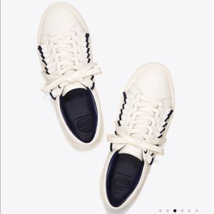 Tory Burch White Sport Ruffle Sneaker, Size 8